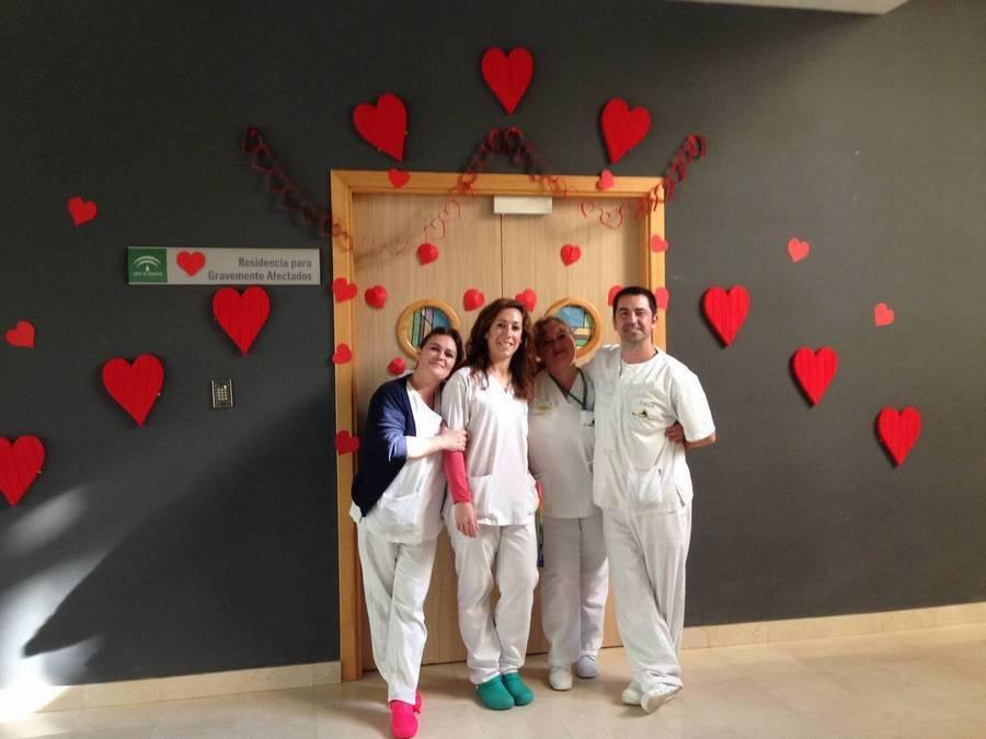 Semana del amor y la amistad en el centro virgen de la for Decoracion amor y amistad oficina